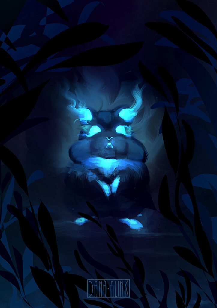 daily-spitpaint-ghost-hamster