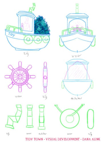 Concept Art - Layout - boat